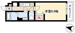 リブリ・Meiwa 3階1Kの間取り