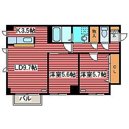 プロスパー110[4階]の間取り