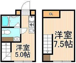 GRACIA MINOWA[402号室]の間取り