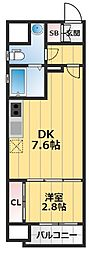 SERENiTE新大阪 12階1LDKの間取り