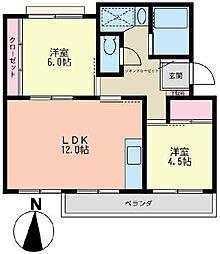 マンション赤関[305号室]の間取り