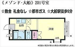 メゾン・大船[201号室号室]の間取り