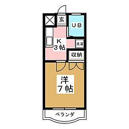 上杉コーポ[3階]の間取り