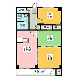 啓周マンション[3階]の間取り