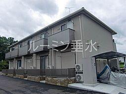 兵庫県加西市北条町東南の賃貸アパートの外観