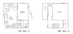 [一戸建] 神奈川県横浜市西区老松町 の賃貸【/】の間取り