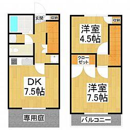 [タウンハウス] 大阪府堺市東区丈六 の賃貸【/】の間取り