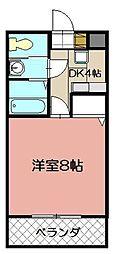 サンフェリカ大畠[102号室]の間取り