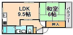 兵庫県伊丹市山田3丁目の賃貸アパートの間取り
