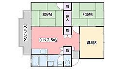福岡県福岡市西区横浜1丁目の賃貸アパートの間取り