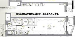 AZEST新桜台 3階1Kの間取り