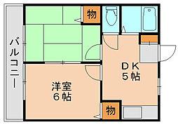 コンフォート原田[2階]の間取り