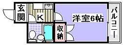 ラフォーレ助松[5C号室]の間取り