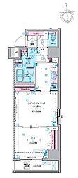 都営新宿線 馬喰横山駅 徒歩3分の賃貸マンション 8階1LDKの間取り