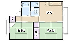 ファミール廣井[1-201号室]の間取り