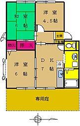 東京都町田市南成瀬8丁目の賃貸アパートの間取り