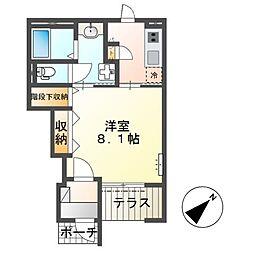 四街道市物井新築アパート(仮称) 1階1Kの間取り