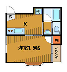 東京都国分寺市本町4丁目の賃貸マンションの間取り