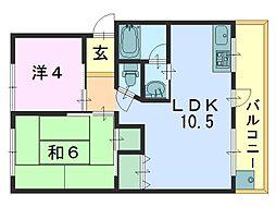 菅原三和マンション[107号室]の間取り
