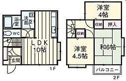 [テラスハウス] 埼玉県上尾市泉台3丁目 の賃貸【/】の間取り
