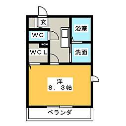 CASA COMODA[1階]の間取り