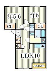 レジデンスKI[1階]の間取り