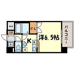 サンロード武庫之荘[4階]の間取り