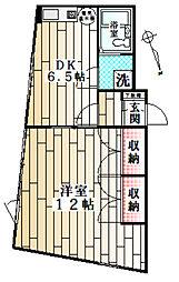 東京都渋谷区千駄ヶ谷1丁目の賃貸マンションの間取り