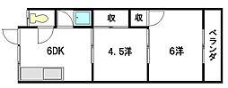 八宝荘[1階]の間取り