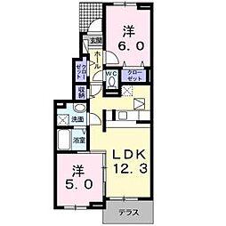 コンストライフE[1階]の間取り
