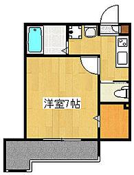 サンルージュ横浜[1階]の間取り