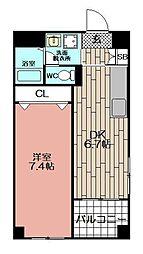 A−FIVE[306号室]の間取り