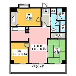 坂野マンション[7階]の間取り