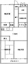 コーポ井口台[5階]の間取り