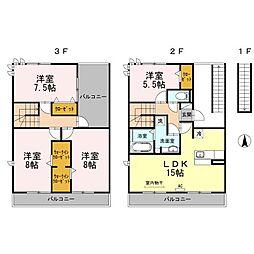 [テラスハウス] 愛知県名古屋市南区呼続4丁目 の賃貸【/】の間取り