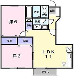 シーベルハイツA[1階]の間取り