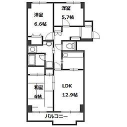 シーアイマンション円山西棟[712号室]の間取り