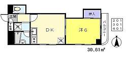 マイコーポ 2階1DKの間取り