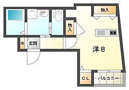 エンジェルズコート西三荘[3階]の間取り