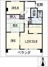ボナール新舞子東303号[3階]の間取り