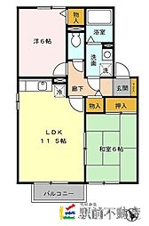 グランシャリオB棟[2階]の間取り