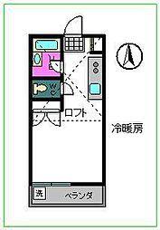 コーポユリノ木[2階]の間取り