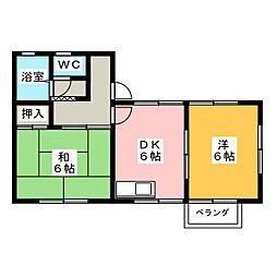 コーポST[2階]の間取り