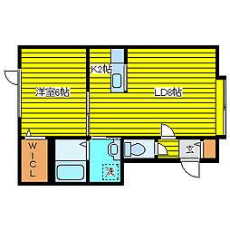 北海道札幌市東区伏古十四条3丁目の賃貸アパートの間取り