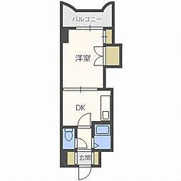 エンドレス三井南5条I[4階]の間取り