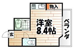 タツノ山王ビル[401号室]の間取り
