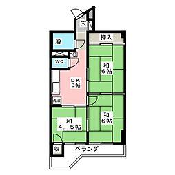 鹿野リハイム[3階]の間取り