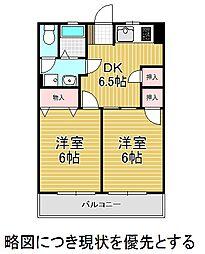 愛知県名古屋市昭和区宮東町の賃貸マンションの間取り