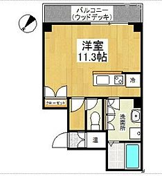 LEON-K[801号室]の間取り