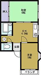 エステート11[2階]の間取り